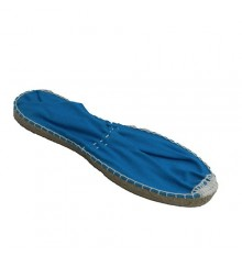 Esparto flat espadrille Made in Spain in blue