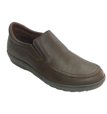 único homem sapato de gordura com borracha nas laterais Pitillos em Brown