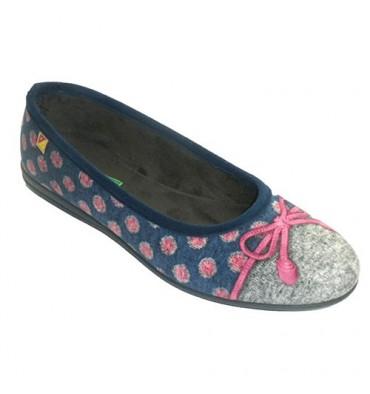 Shoe ser mulher casa manoletina tipo com empate Alberola em Azul