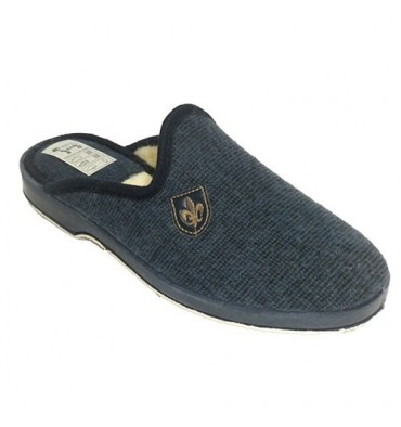Thongs man to be at home wool fleece lining Soca in blue