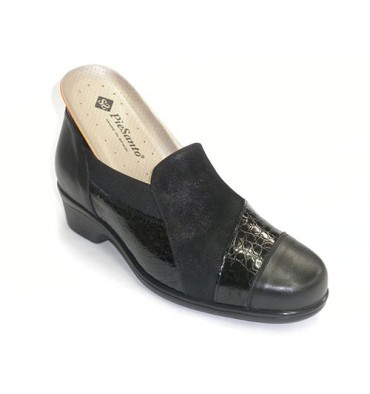 Shoe insoles special woman for leather and suede Pie Santo in black
