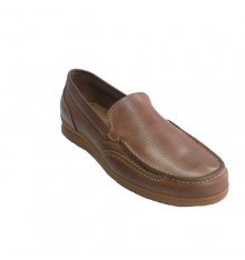 Moccasin summer man with stitches Pitillos in medium brown