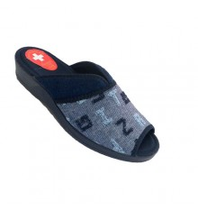 Women's Flip-Flops be at home open toe and heel with opening in instep Nevada in navy blue