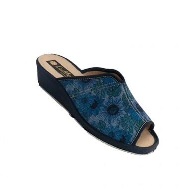 Flip-flops mulher estar em casa com abertura no peito do pé Ludiher em Tejano