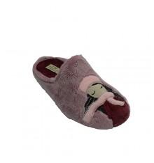 Sapato de dedo aberto de pé por dentro do punho com cachecol Calzamur em Violeta