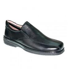 Sapato especial masculino para diabéticos muito confortável Primocx em Preto