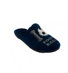 Sneaker open man back from soccer ball Alberola in navy blue