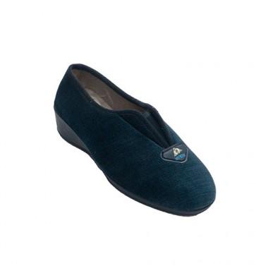 Sapato fechado com elástico no peito do pé Muñoz y Tercero em Azul-marinho