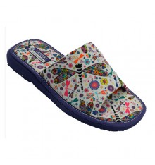 Flip-flops house light woman drawing libélulas Andinas em Roxo