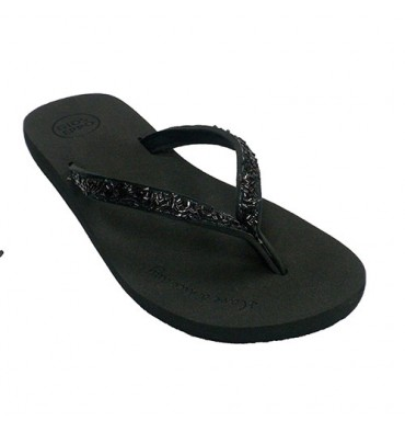Flip-flops beach pool woman black rhinestones Gioseppo in black