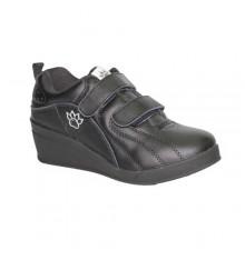 Esporte sapatos com cunha velcro Kelme em preto