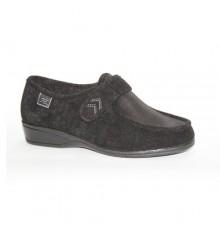 Sapatos de velcro pés muito delicados em preto Cutillas Doctor