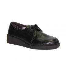 Shoe laces delicate feet Doctor Cutillas in black
