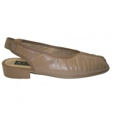 Sandal with rubber in the forefoot and heel Mayjo in beig