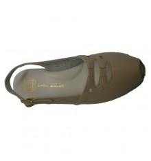 Sandal with rubber on the vamp with leather lining Doctor Cutillas in beig