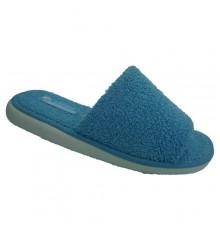 Abrir toe chinelo toalha no azul Andina