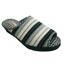 Thongs open for the tip towel with navy stripes, white and light blue Soca in navy blue