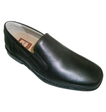 Very comfortable sport shoe with rubber sides and removable insole Tolino in black
