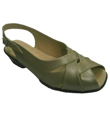 Sandals delicate feet crossed strips Roldán in metallic