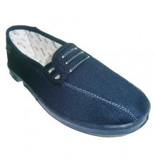 Flat shoe with rubber sides for comfortable Doctor Cutillas in navy blue