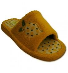 Thongs Andina bordado toalha com limão dedo aberto amarelo