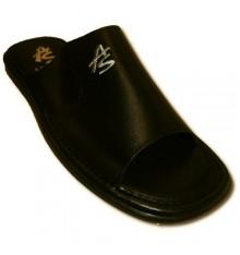 Leather Thongs Men shovel street Andinas in black