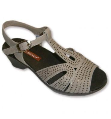 Sandálias de camurça muito ampla com palmilha removível Invisible camelo Santo Pie