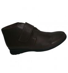 Botas com sola de borracha Velcro El Corzo em marrom escuro
