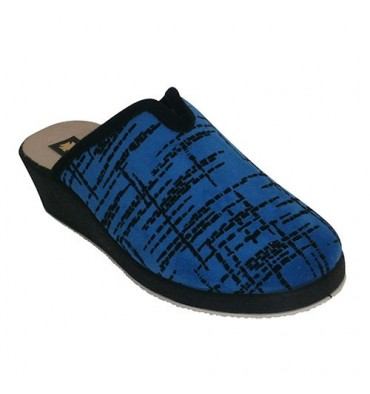 Chaclas with high wedge opening Ludiher in blue