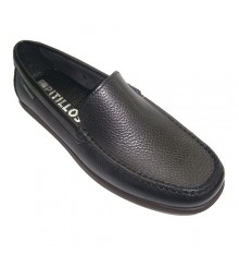Smooth moccasin shoe type shovel Pitillos in black