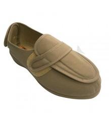 Mulher sapatos muito largos pés com salto Velcro e peito do pé Doctor Cutillas em Tan