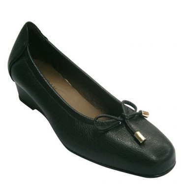 Women flat shoes with wedge Roldán in black