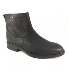 Biker boot type man zip Calzados España in black