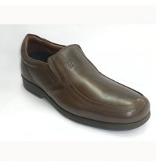 Shoe man with rubber on the sides Pitillos in brown