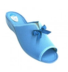 House slipper room for open toe and heel woman opening loop instep and adornment Calzamur in blue