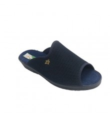 Chancla grid around the house open toe and heel woman Alberola in navy blue