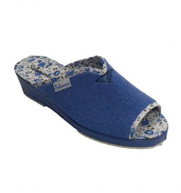 Chancla towel around the house open toe and heel opening in the instep Salemera in aguamar