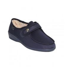 Sapatos de velcro pés muito delicados em Navy Doctor Cutillas