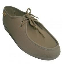 Sapatos largos extras especiais laços muito delicados em pé bege Cutillas Doctor