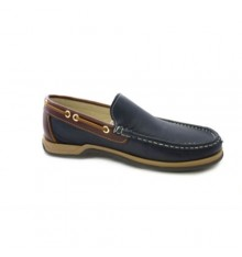 Untyped cords nautical moccasin Danka in navy blue