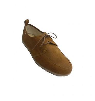 Homem sapatilha de camurça sapato de desporto Alberola em Camel