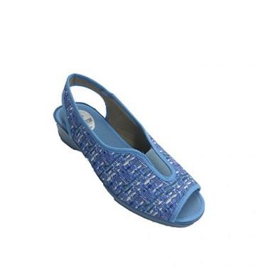 Open woman shoe heel and toe with elastic instep Muñoz y Tercero in various colors