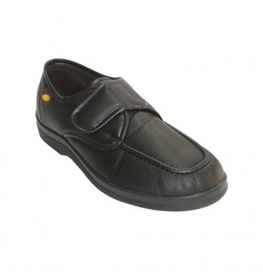 Simulating shoe man shoe with Velcro Doctor Cutillas in black