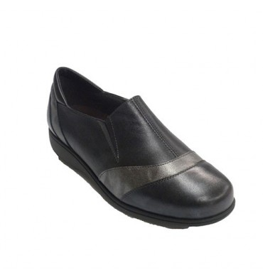 Woman shoe with rubber on the sides Doctor Cutillas in black