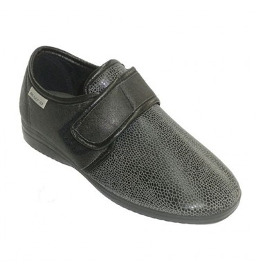 shoe woman shoe with Velcro type shovel licra Muro in black