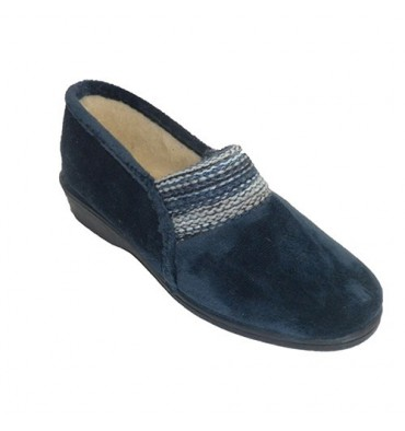 Shoe be home closed knitted elastic woman Soca in blue