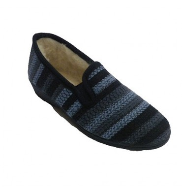 Closed shoe being home elastic woman wool stripes on the sides Soca in various colors
