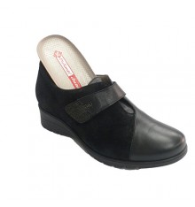 Shoe special woman for combined templates Pie Santo in black