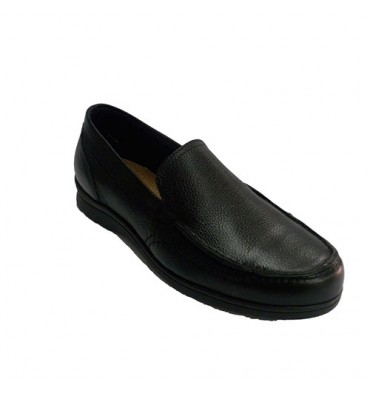Moccasin summer man with stitches Pitillos in black