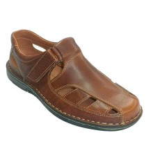 Closed-toed men sandals 48 Hours in medium brown